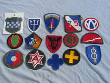 LOT DE 15 PATCHS US WW2 ET VIETNAM ORIGINAUX.  MEYER INSIGNIA  US ARMY