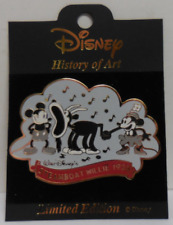 Disney History of Art Steamboat Willie 1928 Pin LE