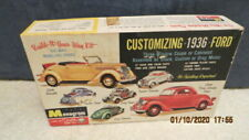 Monogram 1936 Ford Coupe Box, Decals & Instructions