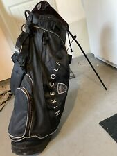 Black Nike Slingshot Stand Golf Bag Light Weight Carry Club 4 Way Divider