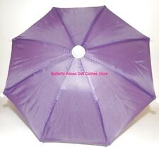 Purple Umbrella 18 in Doll Clothes Accessory Fits American Girl