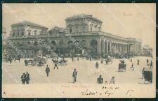 Napoli Città Stazione Carrozze cartolina VK1044