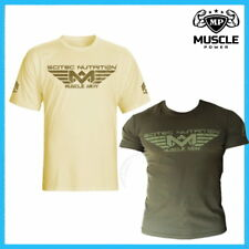 SCITEC NUTRITION MUSCLE ARMY DESERT & WOODLAND GYM T-SHIRT 100% COTTON ALL SIZES