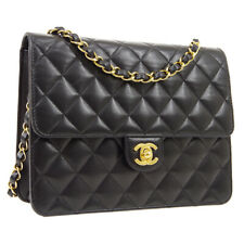 CHANEL Quilted Classic Single Chain Shoulder Bag Purse Black 10563463 AK45136
