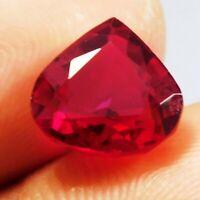 Natural Certified Pear 5 Carat Top Red Ruby Loose Gemstone