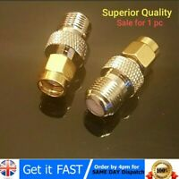 F Type Female Jack to RP-SMA Male Plug Center RF Coaxial Adapter Connector - UK
