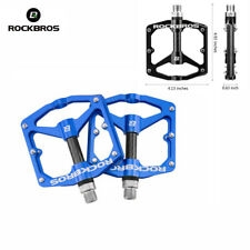 ROCKBROS Cycling Road Mountain Bike Pedals Carbon Fiber Sealed Bearings Blue