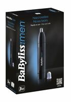 BaByliss Naricero E650E Cortapelos para nariz y orejas sistema lavable con agua
