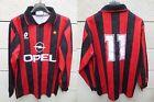VINTAGE Maillot MILAN AC Lotto SIMONE n°11 maglia shirt Milano S / M trikot Opel