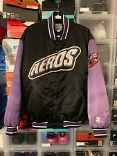 Akron Aeros Black Starter Jacket XL 90s Dugout Insulated Minor League Nice