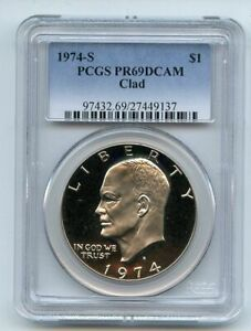 1974 S $1 Ike Eisenhower Dollar Proof PCGS PR69DCAM