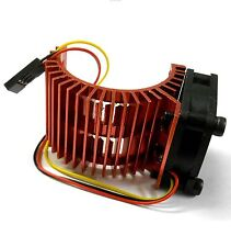 540 550 560 RC EP Electric Motor Heatsink with 6v Fan Red 1/10 Scale Side