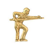 BILIARDO MUSICISTA SPILLA per cravatta oro PRODOTTO IN GIOIELLERIA Quarter bham