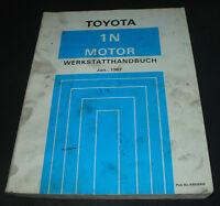 Werkstatthandbuch Motor 1 N Toyota Starlet Typ NP70 Stand 01/1987