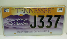 MATRICULA USA TENNESSEE SMOKEY MOUNTAINS NATIONAL PARK REPLICA LICENSE PLATE