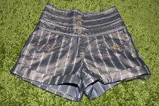 High Waist Gold Metalic Retro Disco Shorts -  26 inch waist - 34 inch hips