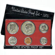 1975 US Mint Clad Proof Set, Gem Coins With Box