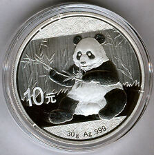 Chine 10 Yens 2017 Ours Panda @ 30 Grammes Argent Pur @