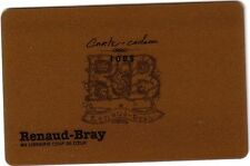 RENAUD-BRAY Limited Edition gold Gift Card New No Value *french* VERSION