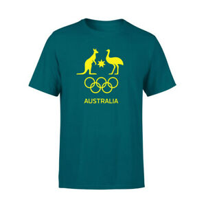 AOC Australian Olympic Adults Supporter Cotton T-Shirt/Tee/Top Sport GRN