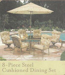 Elegant 8 Piece patio dining set