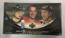 2003-04 Upper Deck Trilogy Factory Sealed Hobby Hockey Box