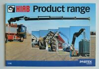 HIAB Cranes Product Range 1998 dealer brochure catalog - English