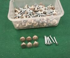 "Brushed nickel chrome plated knobs pulls 3/4""  new screws up to 24 available"