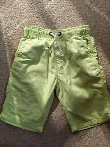 BOYS SIZE 6 YEARS NEXT LIME GREEN SHORTS GOOD CONDITION