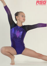 "RS Gymwear, Gymnastics Long Sleeve ""Evita"" Purple Ombre Mesh (RSG-230) SALE"