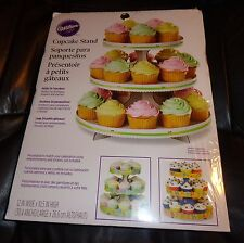 WILTON 3 TIER DESERT STAND DISPLAY  DECORATE YOUR CUPCAKES YOUR WAY 24  CUPCAKES