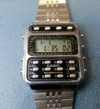 Vintage CASIO CFX-200 197 Scientific Calculator Stainless Steel  Watch.
