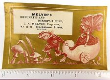 Anthropomorphic Frog Pulling Fairy Cart, Melvin's Rheumatic & Dyspepsia Cure F53