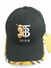 Burberry TB 1856 Embroidery Outdoor Golf Hat Adjustable Strap Adult Size Black