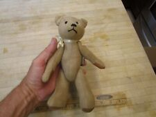 Vintage Bayless stuffed Teddy Bear leather Tag Artist Signed Dated