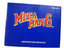 Mega Man 6 Instruction Booklet Manual Only NES Nintendo Megaman Rock Man