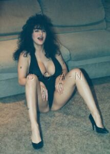 Vintage Semi Nude Color Real Photo- Super Endowed- Tattoo- Teddy- Legs- Heels #1