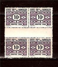 COTE DES SOMALIS 1 bloc de 4 timbres taxes neufs de 1947 N°YT 44  171T3