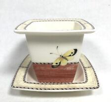 More details for wedgwood sarah's garden queens ware candle holder plant pot saucer viola engalnd