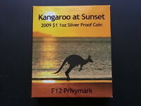 Australia. 2009 1oz Silver - Kangaroo at Sunset. With F12 Privy..  PROOF