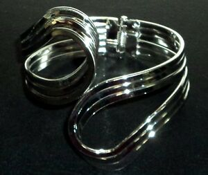 Cuff Bracelet Sterling Silver .925 With Drawstring Pouch NEW #007
