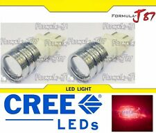 CREE LED Light 5W 4157 Red Two Bulbs DRL Daytime Turn Signal Parking Drive Brake