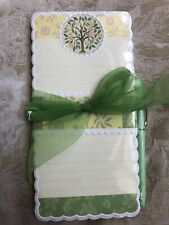 NIP Carol Wilson Rose Garden Magnetic List Pad Pen Lemon Tree