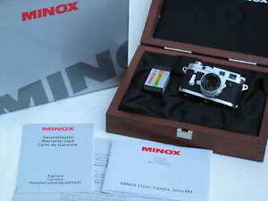 "Minox Classic Camera Leica M3 60501 complete MINT IN BOX US SELLER ""LQQK"""
