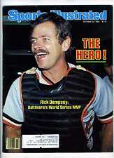 Oct 24 1983 Sports Illustrated  WS MVP Rick Dempsey   Orioles