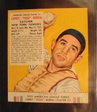 "1953 Red Man w/tab LARRY ""YOGI"" BERRA #3A EX/MT-NM YANKEES"