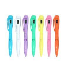 Kugelschreiber Stift mit Uhr Büro Schreibwaren Schulbedarf-Kinder Geschen NEU