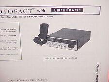 1978 JCPENNEY CB RADIO SERVICE SHOP MANUAL MODEL 981-6218 (981-8394) JC PENNEY
