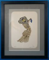 "Leonor Fini Hand Signed ""Le Chat Maquillee"" LE Color Lithograph Framed 1973"