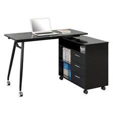 SixBros. Computertisch Computerschreibtisch Home Office Schwarz CT-3366UAM/2179